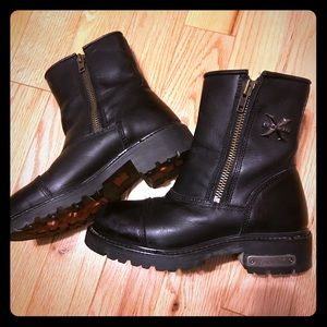 Motorcycle Ankle Boots